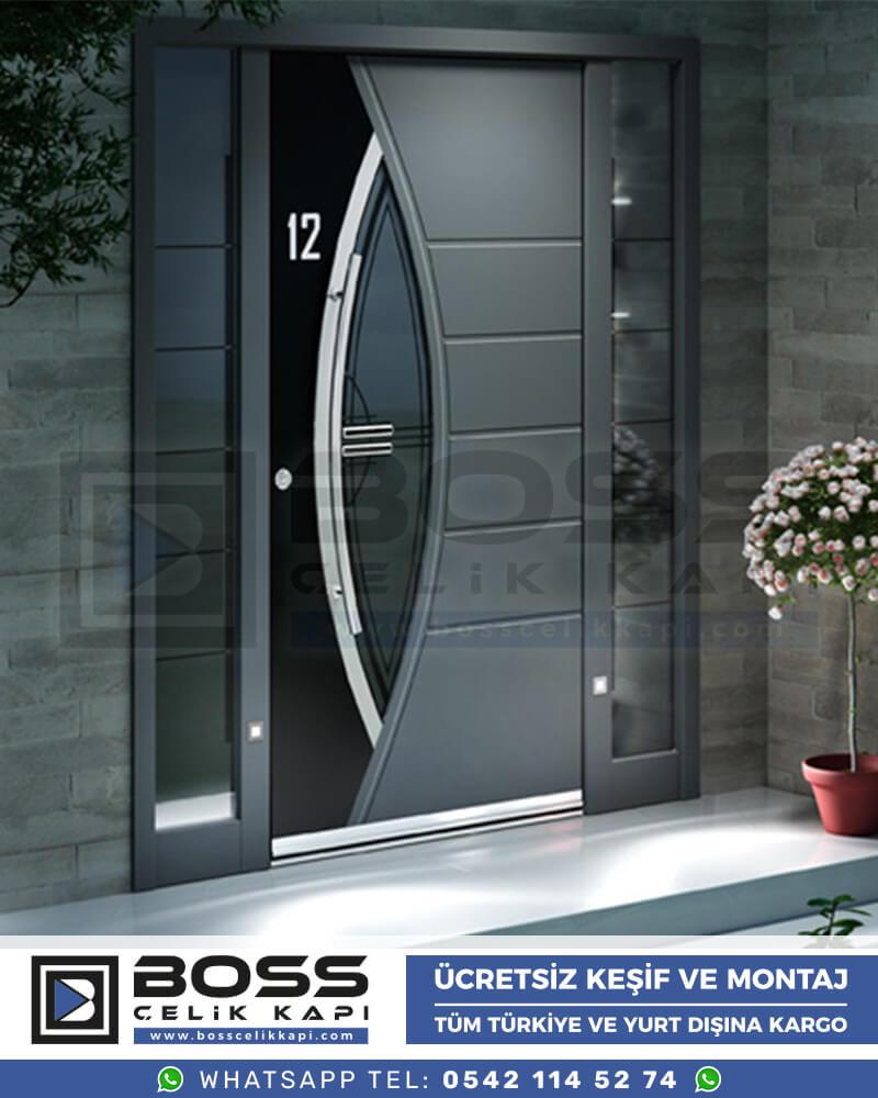Boss Çelik Kapı Kompozit Villa Kapısı Modelleri İndirimli Villa Kapısı Fiyatları Villa Giriş Kapısı 11