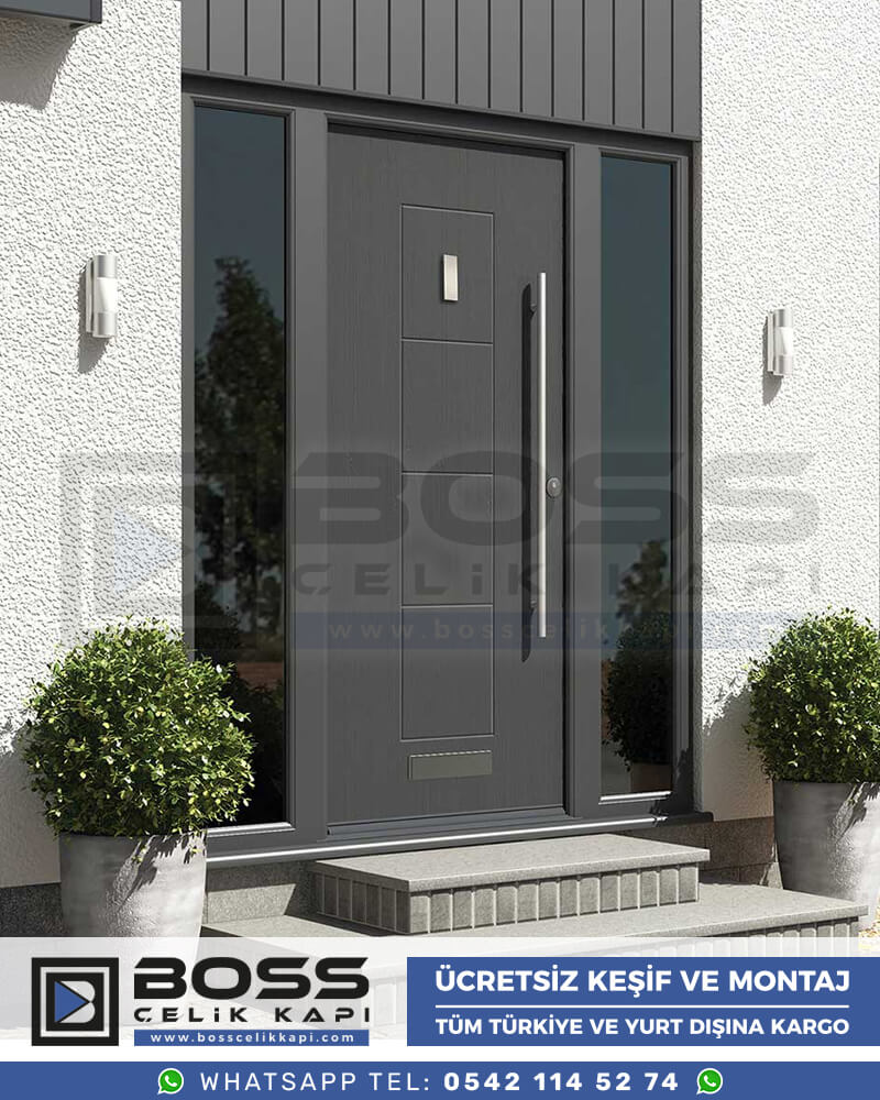 Boss Çelik Kapı Kompozit Villa Kapısı Modelleri İndirimli Villa Kapısı Fiyatları Villa Giriş Kapısı 12
