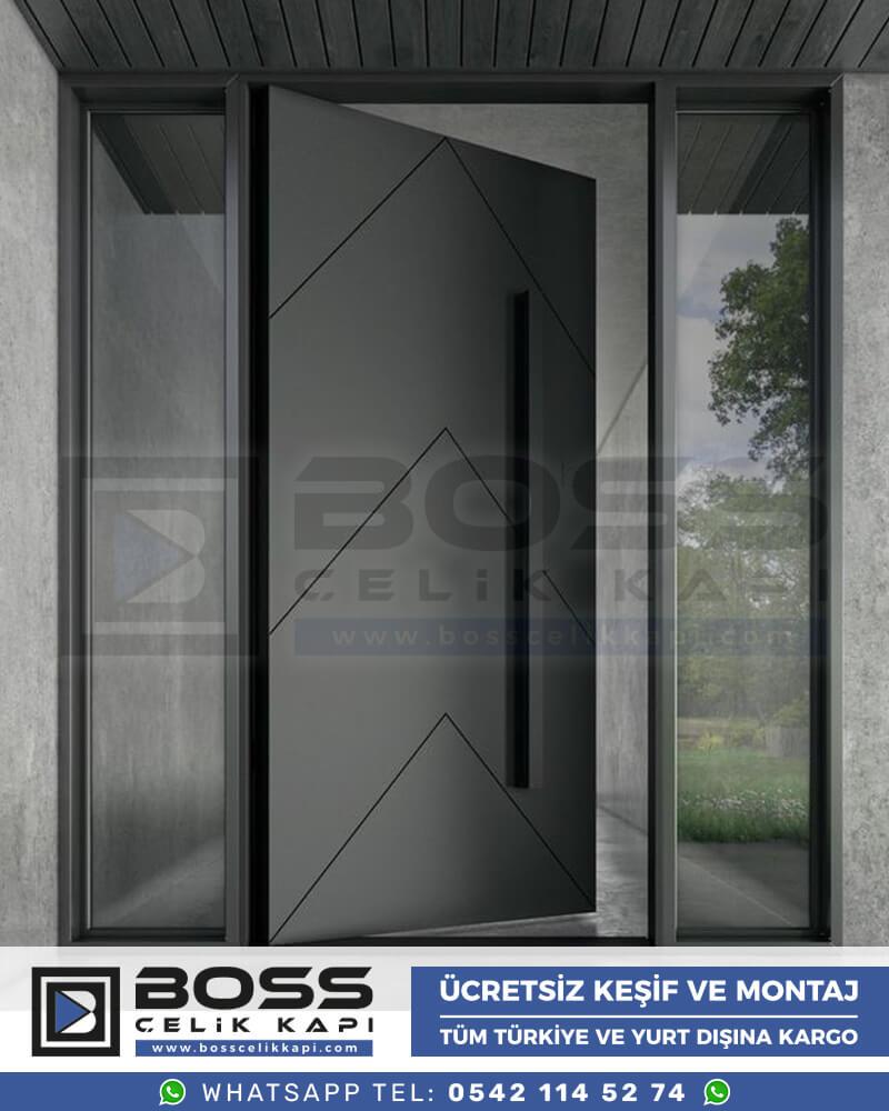 Boss Çelik Kapı Kompozit Villa Kapısı Modelleri İndirimli Villa Kapısı Fiyatları Villa Giriş Kapısı 14