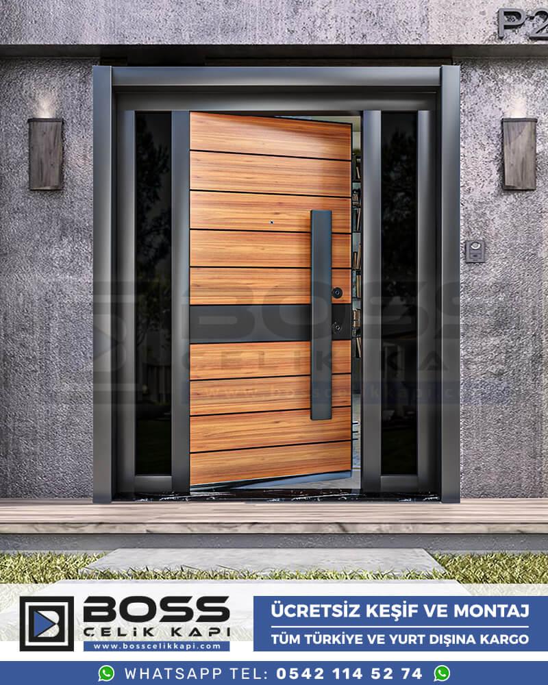 Boss Çelik Kapı Kompozit Villa Kapısı Modelleri İndirimli Villa Kapısı Fiyatları Villa Giriş Kapısı 23