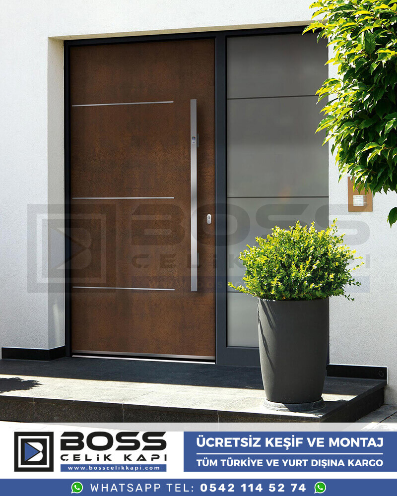 Boss Çelik Kapı Kompozit Villa Kapısı Modelleri İndirimli Villa Kapısı Fiyatları Villa Giriş Kapısı 3