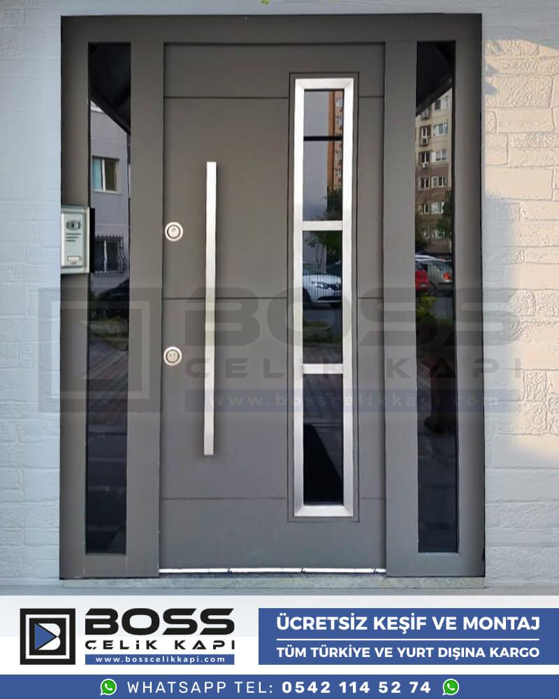 Boss Çelik Kapı Kompozit Villa Kapısı Modelleri İndirimli Villa Kapısı Fiyatları Villa Giriş Kapısı 43