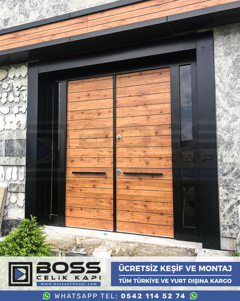 Boss Çelik Kapı Kompozit Villa Kapısı Modelleri İndirimli Villa Kapısı Fiyatları Villa Giriş Kapısı 51