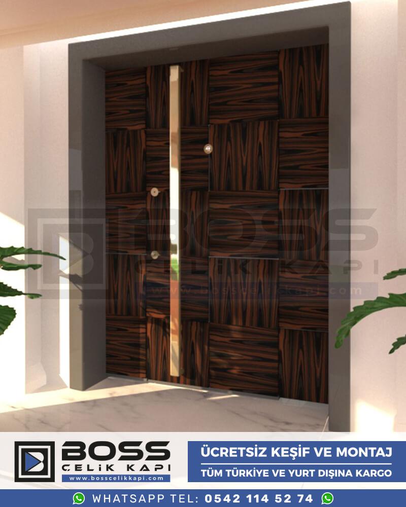 Boss Çelik Kapı Kompozit Villa Kapısı Modelleri İndirimli Villa Kapısı Fiyatları Villa Giriş Kapısı 54