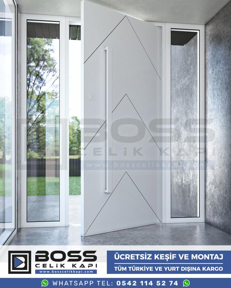 Boss Çelik Kapı Kompozit Villa Kapısı Modelleri İndirimli Villa Kapısı Fiyatları Villa Giriş Kapısı 55