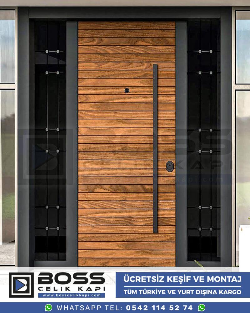 Boss Çelik Kapı Kompozit Villa Kapısı Modelleri İndirimli Villa Kapısı Fiyatları Villa Giriş Kapısı 6