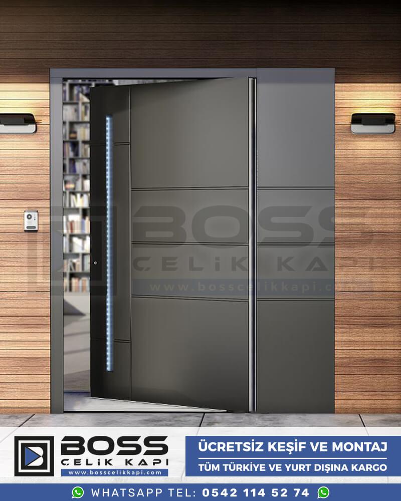 Boss Çelik Kapı Kompozit Villa Kapısı Modelleri İndirimli Villa Kapısı Fiyatları Villa Giriş Kapısı