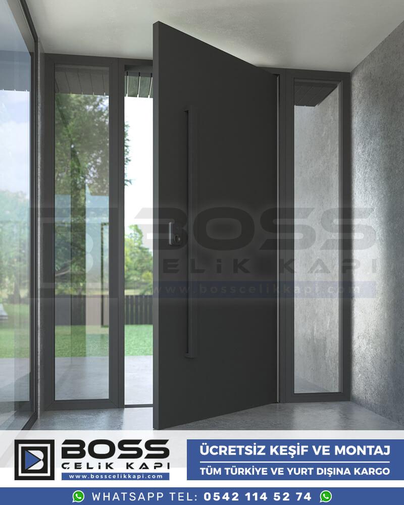 Kompozit Villa Kapısı Modelleri Boss Çelik Kapı Villa Giriş Kapısı Antrasit Gri