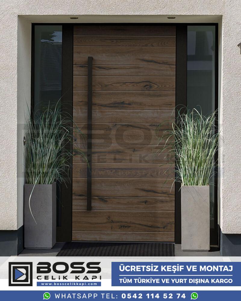 Kompozit Villa Kapısı Modelleri Boss Çelik Kapı Villa Giriş Kapısı Kompakt Lamine Dış Etkenlere Dayanıklı