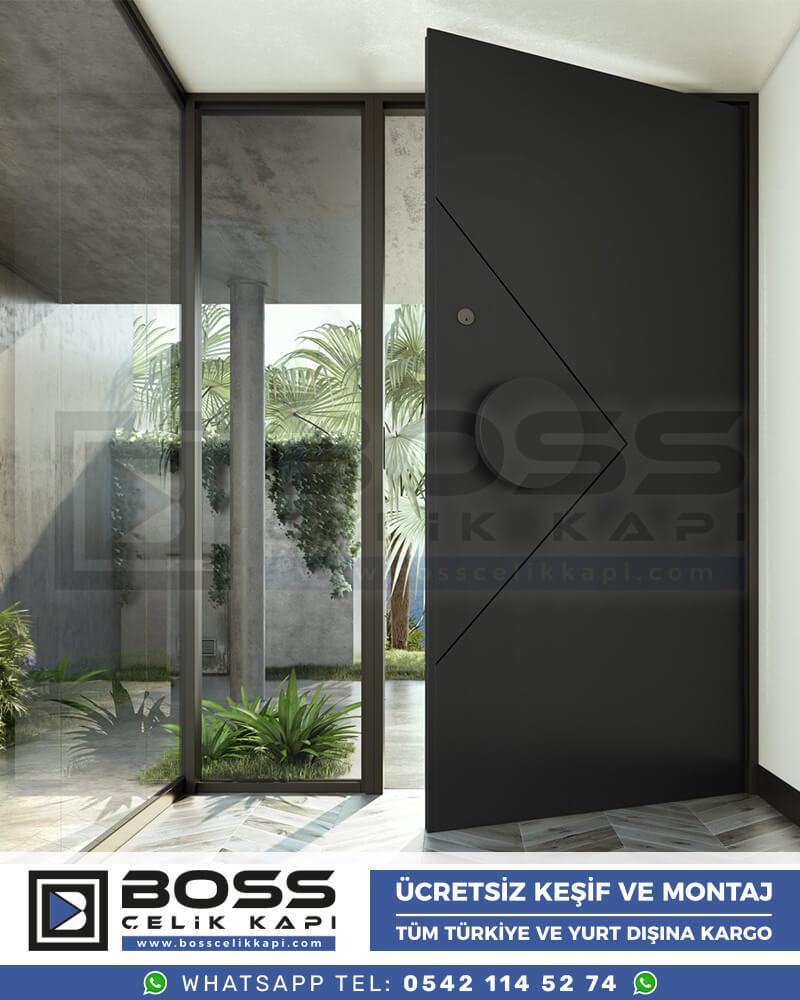 Kompozit Villa Kapısı Modelleri Boss Çelik Kapı Villa Giriş Kapısı Lüks