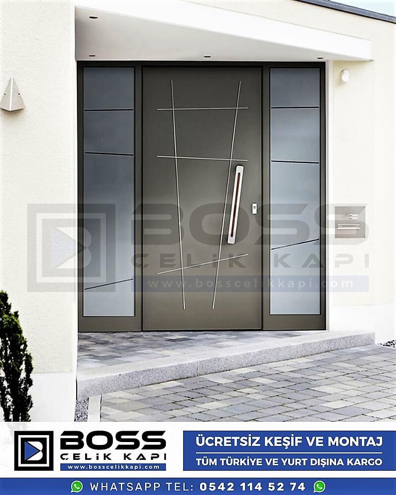 Kompozit Villa Kapısı Modelleri Dış Etkenlere Dayanıklı Çelik Kapı Villa Kapıları Boss Çelik Kapı 1