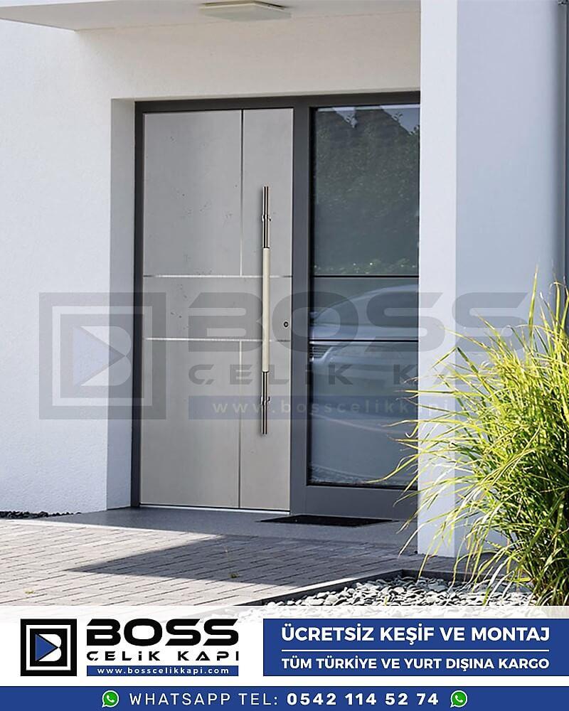 Kompozit Villa Kapısı Modelleri Dış Etkenlere Dayanıklı Çelik Kapı Villa Kapıları Boss Çelik Kapı 10