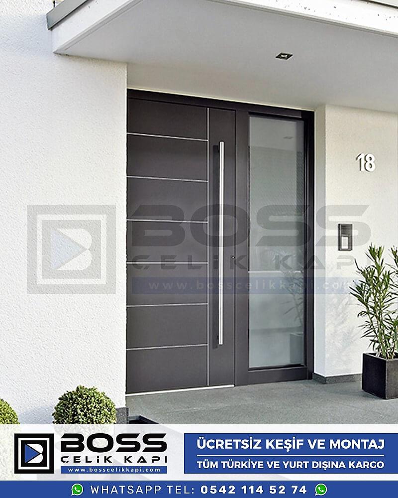 Kompozit Villa Kapısı Modelleri Dış Etkenlere Dayanıklı Çelik Kapı Villa Kapıları Boss Çelik Kapı 11