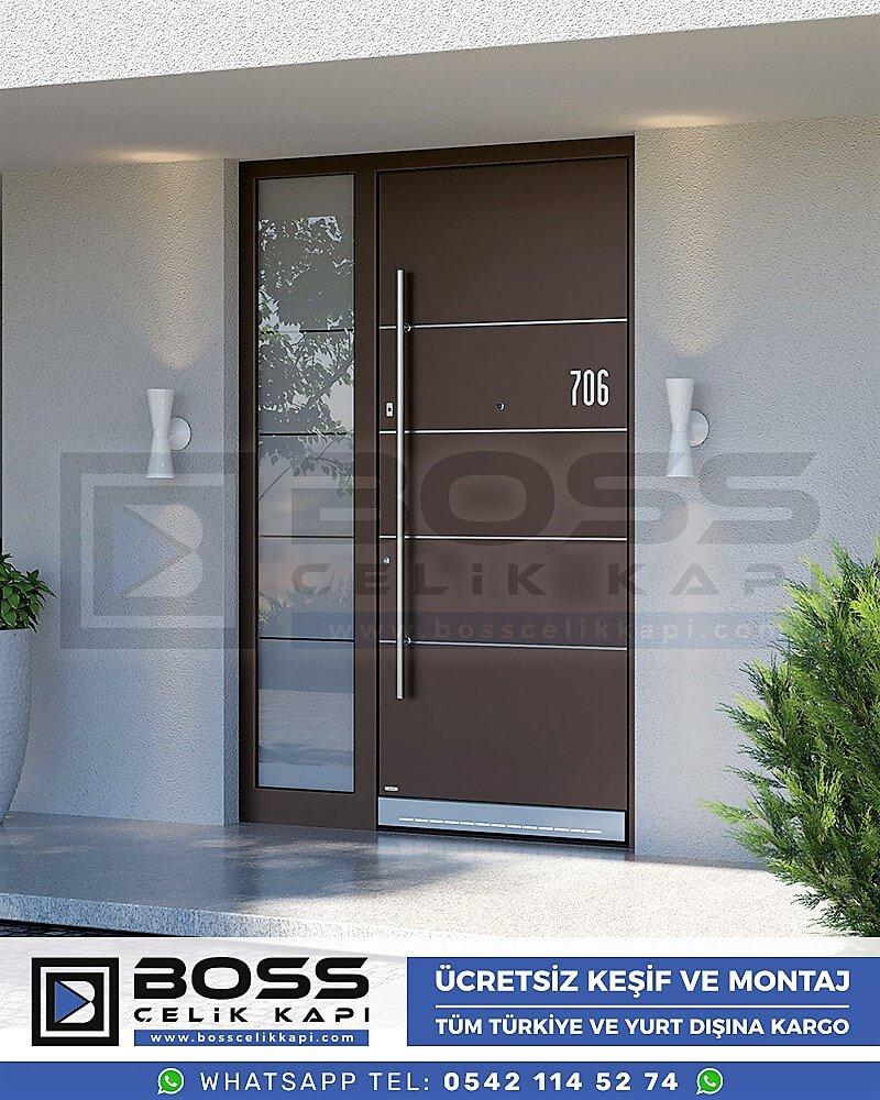 Kompozit Villa Kapısı Modelleri Dış Etkenlere Dayanıklı Çelik Kapı Villa Kapıları Boss Çelik Kapı 12