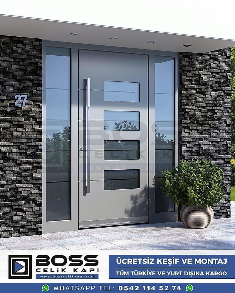 Kompozit Villa Kapısı Modelleri Dış Etkenlere Dayanıklı Çelik Kapı Villa Kapıları Boss Çelik Kapı 13