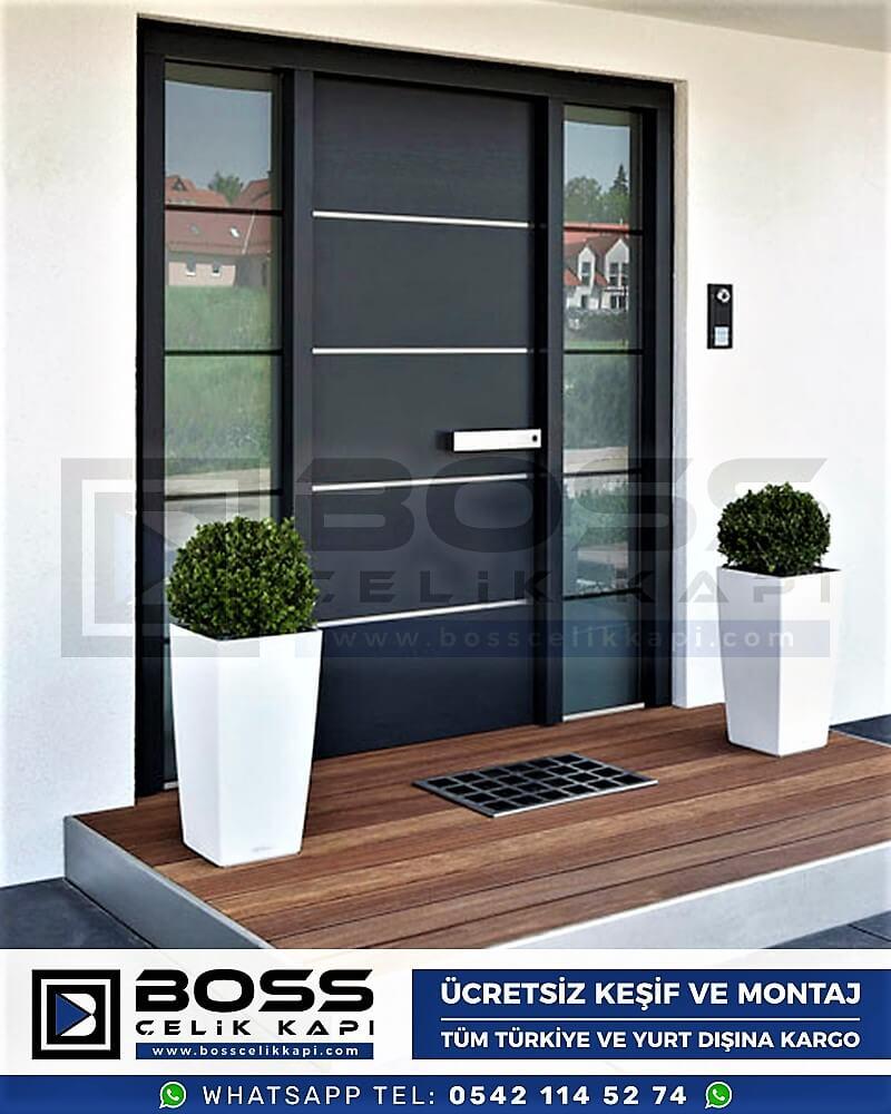 Kompozit Villa Kapısı Modelleri Dış Etkenlere Dayanıklı Çelik Kapı Villa Kapıları Boss Çelik Kapı 14