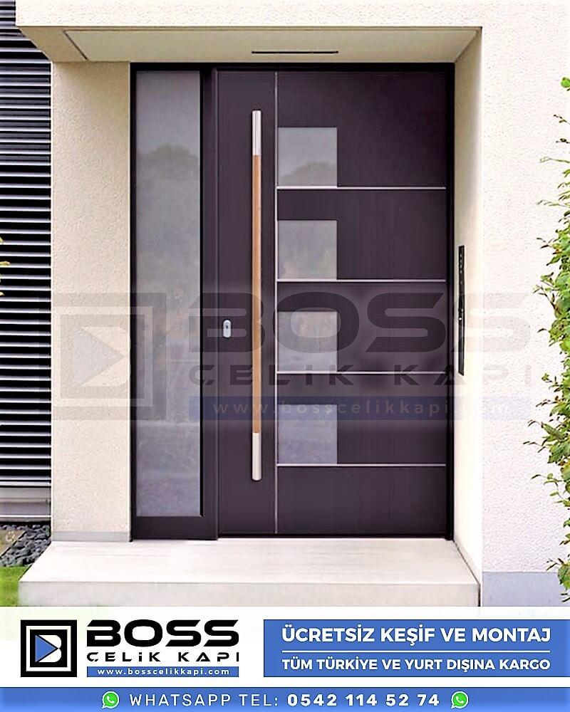 Kompozit Villa Kapısı Modelleri Dış Etkenlere Dayanıklı Çelik Kapı Villa Kapıları Boss Çelik Kapı 15