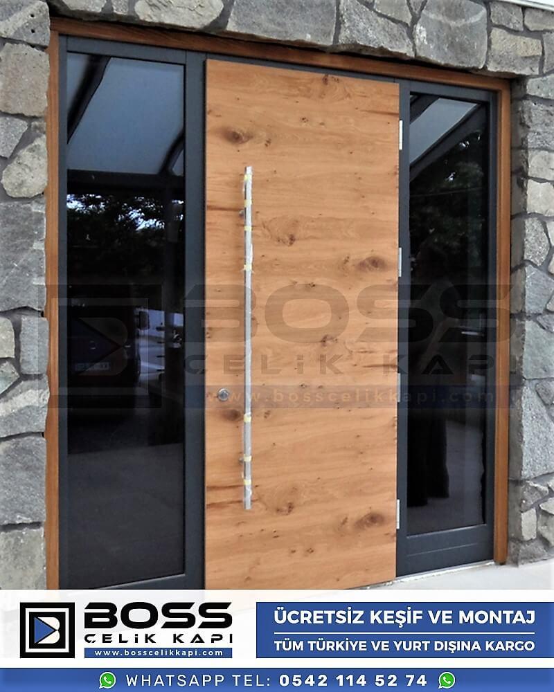 Kompozit Villa Kapısı Modelleri Dış Etkenlere Dayanıklı Çelik Kapı Villa Kapıları Boss Çelik Kapı 16