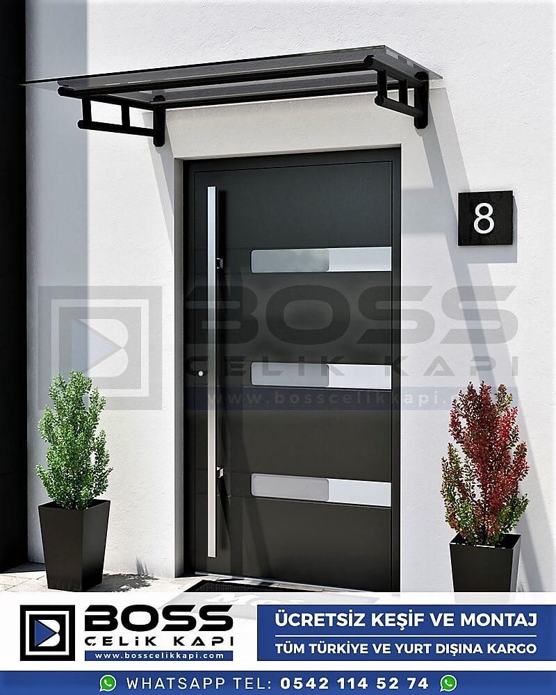 Kompozit Villa Kapısı Modelleri Dış Etkenlere Dayanıklı Çelik Kapı Villa Kapıları Boss Çelik Kapı 17