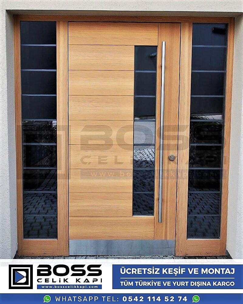 Kompozit Villa Kapısı Modelleri Dış Etkenlere Dayanıklı Çelik Kapı Villa Kapıları Boss Çelik Kapı 2