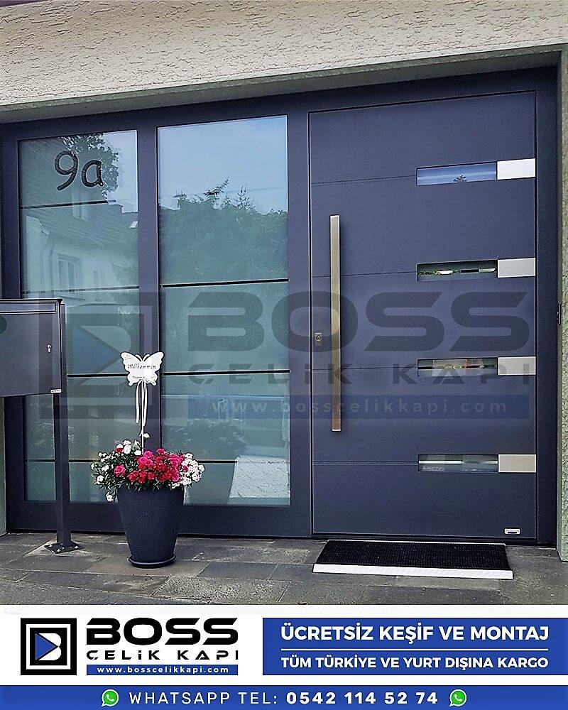 Kompozit Villa Kapısı Modelleri Dış Etkenlere Dayanıklı Çelik Kapı Villa Kapıları Boss Çelik Kapı 20