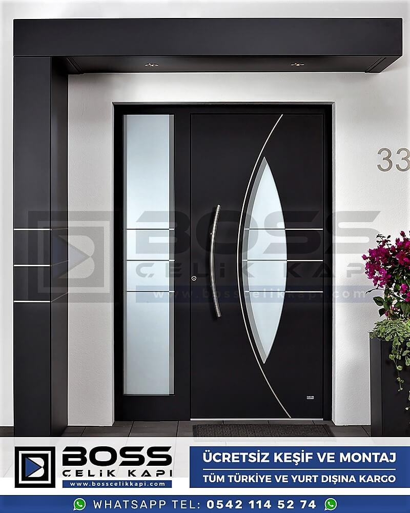 Kompozit Villa Kapısı Modelleri Dış Etkenlere Dayanıklı Çelik Kapı Villa Kapıları Boss Çelik Kapı 22