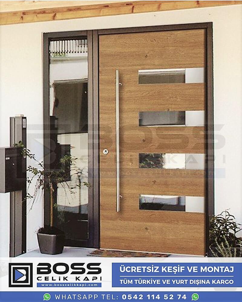Kompozit Villa Kapısı Modelleri Dış Etkenlere Dayanıklı Çelik Kapı Villa Kapıları Boss Çelik Kapı 23