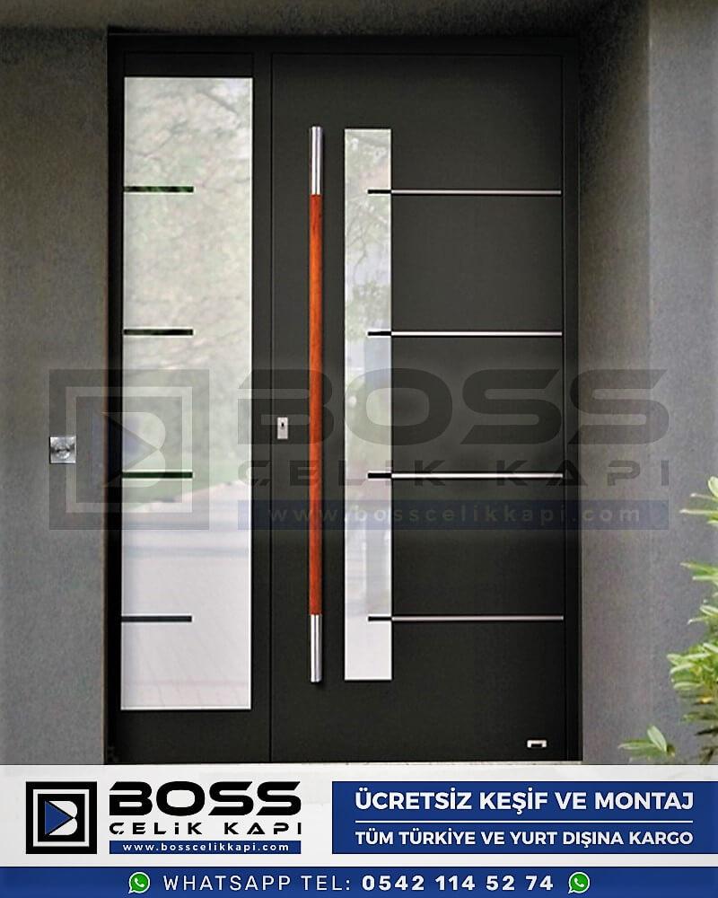 Kompozit Villa Kapısı Modelleri Dış Etkenlere Dayanıklı Çelik Kapı Villa Kapıları Boss Çelik Kapı 24