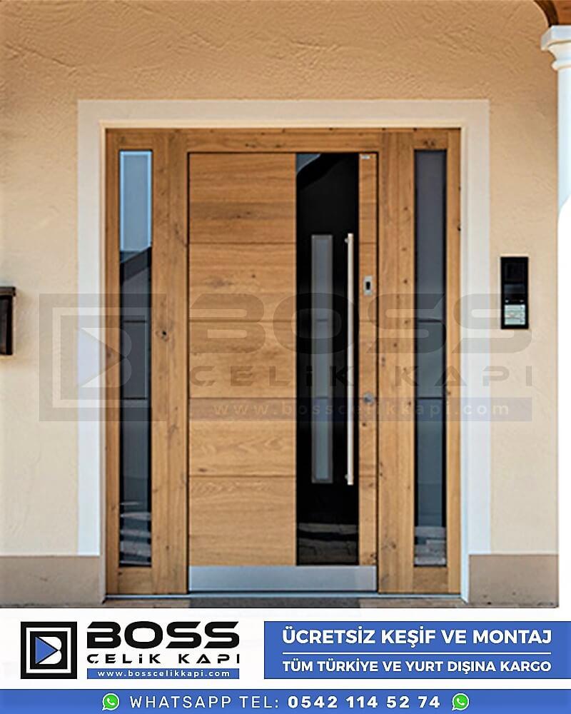 Kompozit Villa Kapısı Modelleri Dış Etkenlere Dayanıklı Çelik Kapı Villa Kapıları Boss Çelik Kapı 3