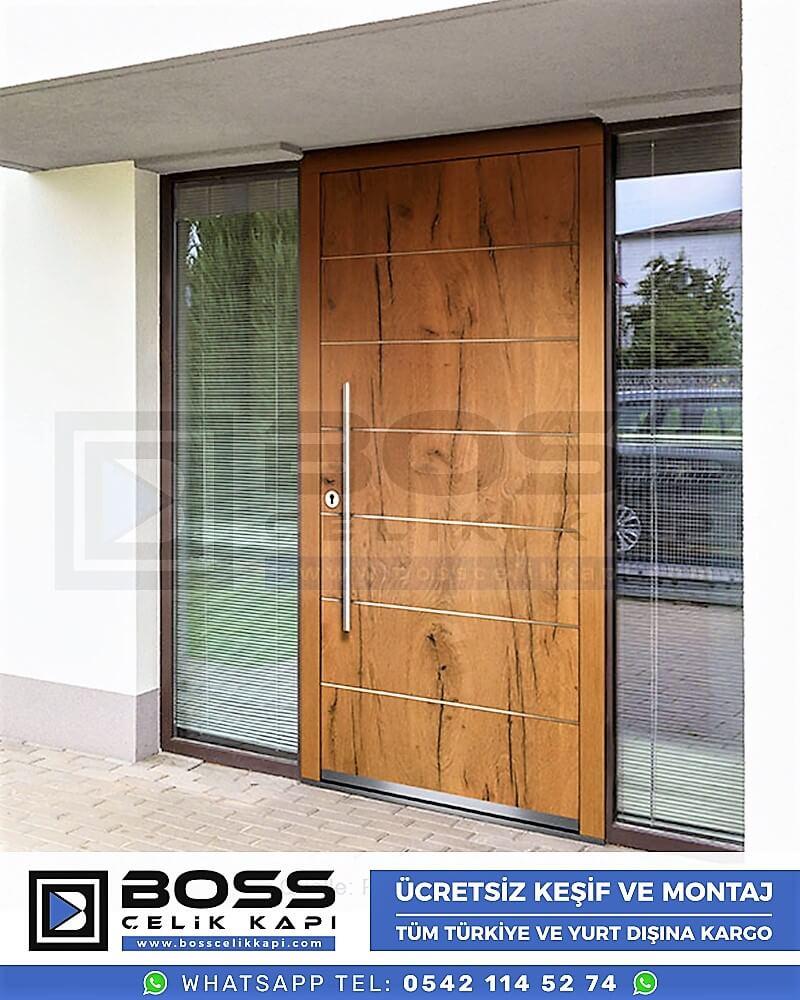 Kompozit Villa Kapısı Modelleri Dış Etkenlere Dayanıklı Çelik Kapı Villa Kapıları Boss Çelik Kapı 4