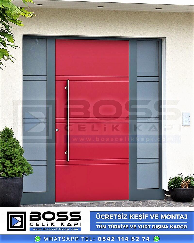 Kompozit Villa Kapısı Modelleri Dış Etkenlere Dayanıklı Çelik Kapı Villa Kapıları Boss Çelik Kapı 5