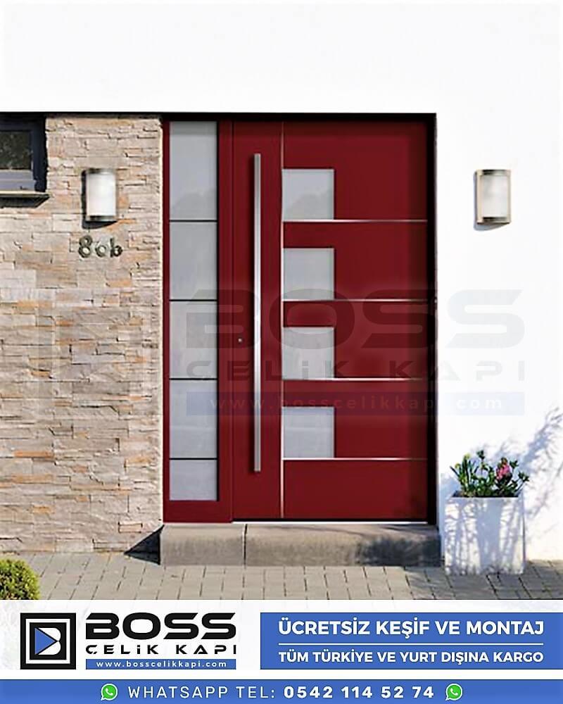 Kompozit Villa Kapısı Modelleri Dış Etkenlere Dayanıklı Çelik Kapı Villa Kapıları Boss Çelik Kapı 6
