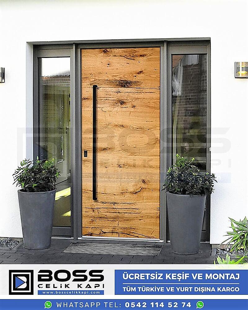 Kompozit Villa Kapısı Modelleri Dış Etkenlere Dayanıklı Çelik Kapı Villa Kapıları Boss Çelik Kapı 7