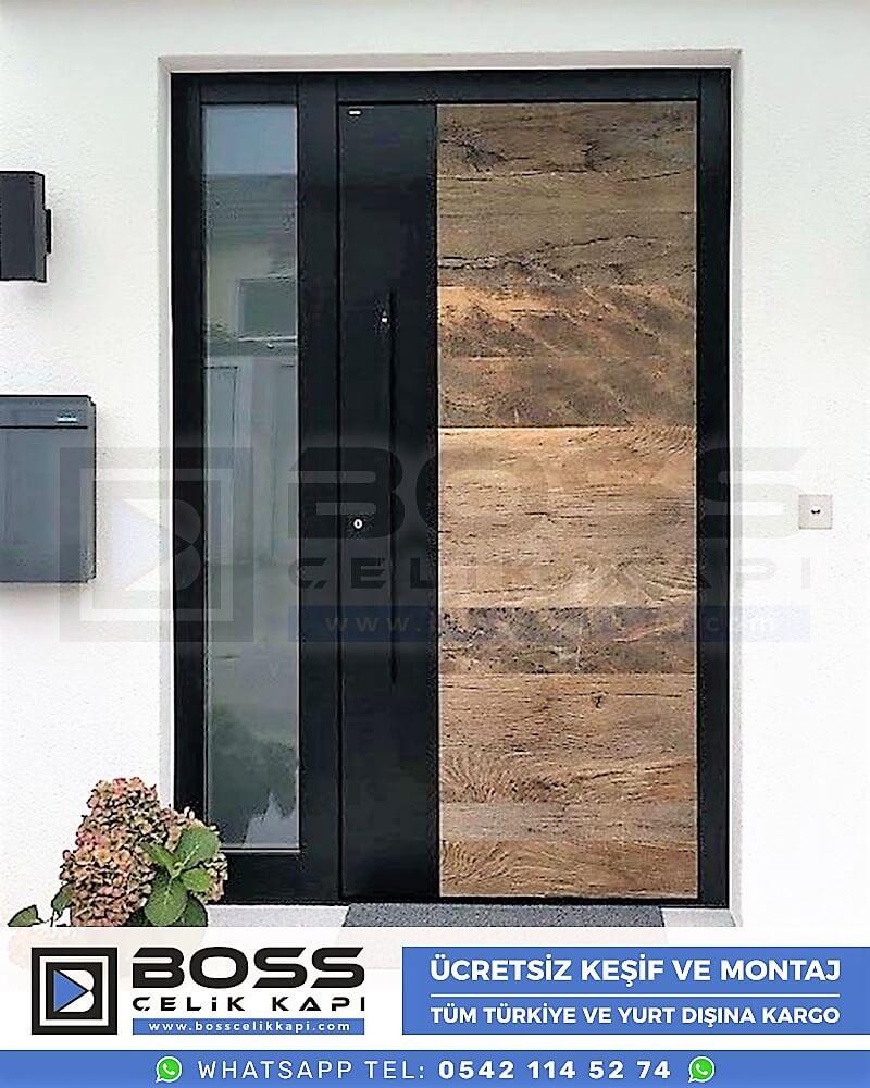 Kompozit Villa Kapısı Modelleri Dış Etkenlere Dayanıklı Çelik Kapı Villa Kapıları Boss Çelik Kapı 8