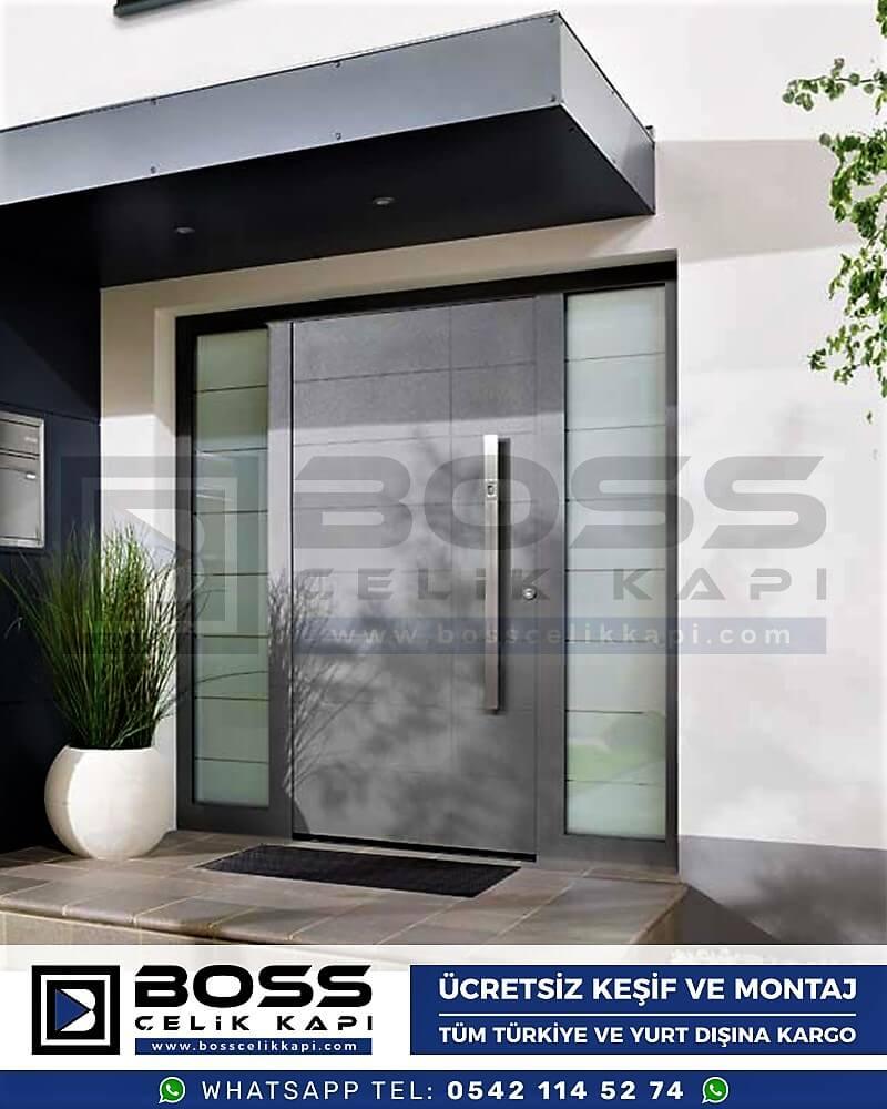 Kompozit Villa Kapısı Modelleri Dış Etkenlere Dayanıklı Çelik Kapı Villa Kapıları Boss Çelik Kapı 9