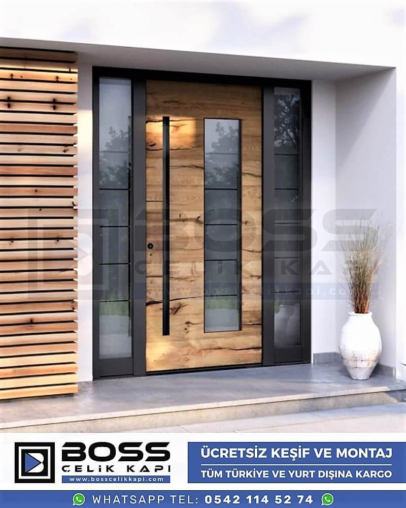 Kompozit Villa Kapısı Modelleri Dış Etkenlere Dayanıklı Çelik Kapı Villa Kapıları Boss Çelik Kapı